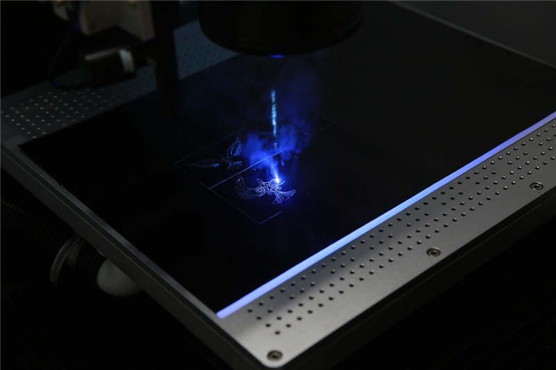 15W uv laser engraving glass with reduced thermal damage